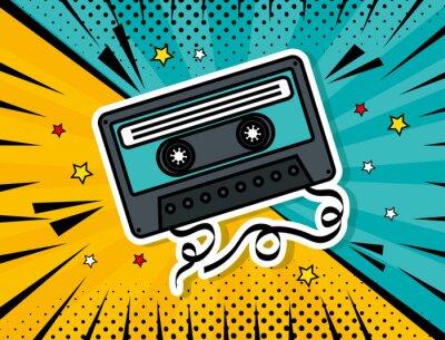 Quadro music cassette pop art style vector illustration design