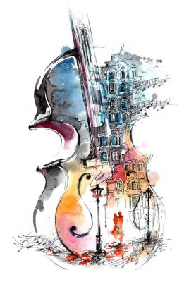 Quadro musica e la città