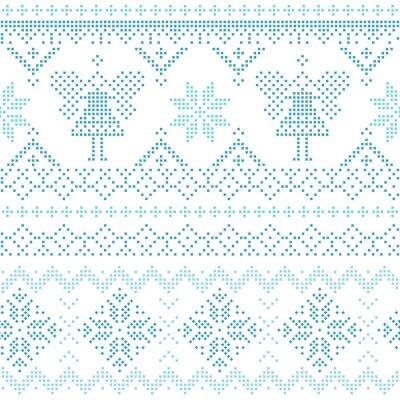 Quadro Natale scandinavo Card - per l'invito, carta da parati