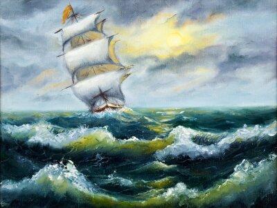 Quadro Nave in oceano