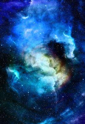 Quadro Nebulosa, spazio cosmico e le stelle, blu cosmico astratto. Elementi di questa immagine fornita dalla NASA.