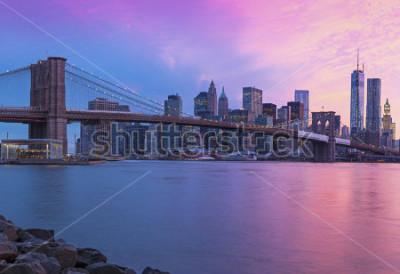 Quadro New York City Manhattan panorama at sunset