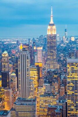 Quadro New York City skyline crepuscolo USA
