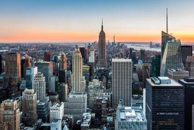 Quadro New York Skyline al tramonto