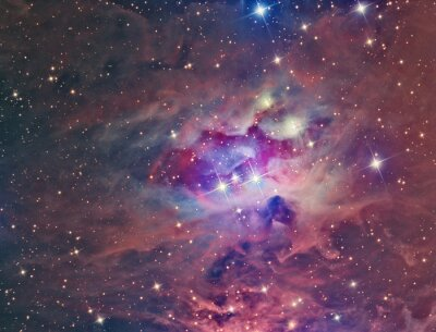 Quadro NGC 1973 Uomo corrente Nebula ripreso con un telescopio e camera CCD scientifica