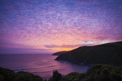 Quadro Nugget Point Catlins Nuova Zelanda am Abend