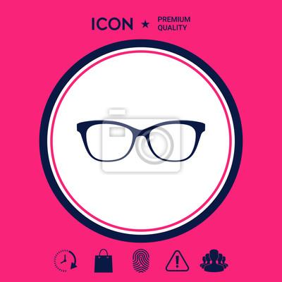 orologio c1fee be784 Quadro: Occhiali icona simbolo