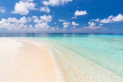 Quadro Oceano bella spiaggia su Maldive
