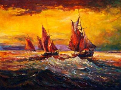Quadro Oceano e nave