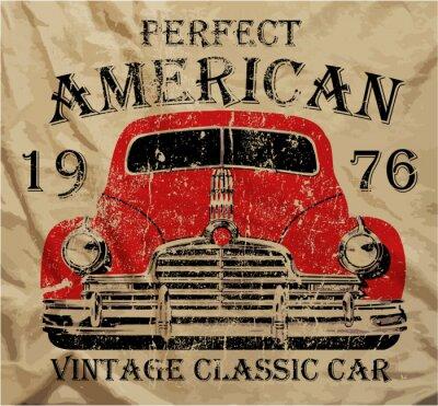 Quadro Old American Car Vintage maglietta Graphic Design