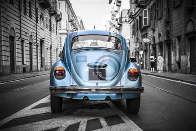 Quadro Old blue car