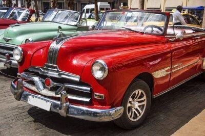 Quadro Oldtimer nel centro di L'Avana