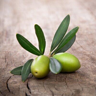 Quadro olive con foglie
