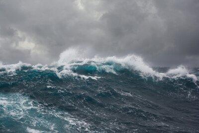 Quadro onde del mare durante la tempesta nel Oceano Atlantico
