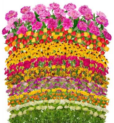 Quadro Onde floreali letto fantastico isolato