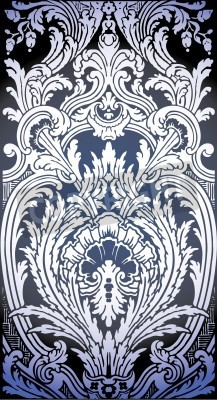 Quadro one patron of seamless pattern of Luis XIV bedroom