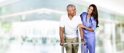 Quadro Operaio di sanità e Uomo anziano