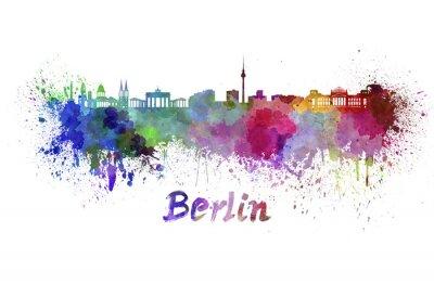 Quadro Orizzonte di Berlino in acquerello