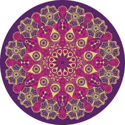 Quadro ornamentale pizzo rotondo, fondo cerchio con molti detai
