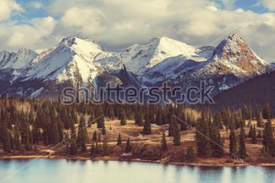 Quadro Paesaggio della montagna in Colorado Rocky Mountains, Colorado, Stati Uniti.