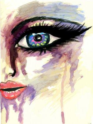 Quadro Painted volto stilizzato