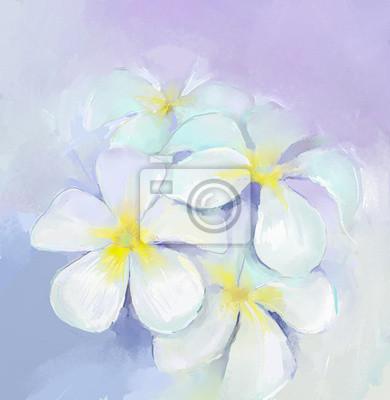 Painting.white fiori dipinto ad olio olio plumeria frangipani ...