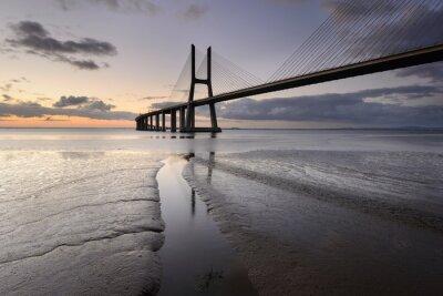 Quadro Paisagem urbana di Lisbona ea SUA ponte.