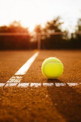 Quadro palla da tennis scatola servizio all'interno