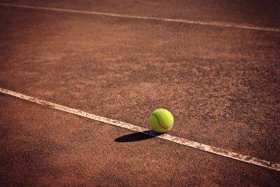 Quadro palla da tennis sulla linea