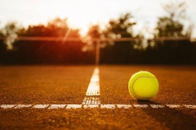 Quadro Palla su un campo da tennis