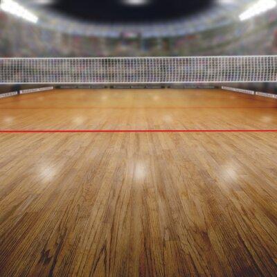 Quadro Pallavolo Arena con gli spettatori e copia spazio
