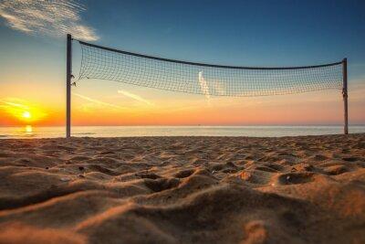 Quadro Pallavolo netto e l'alba in spiaggia