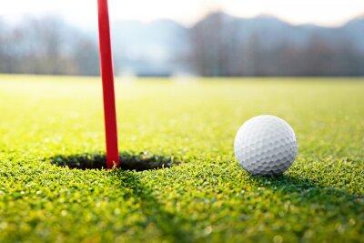 Quadro pallina da golf vicino al buco