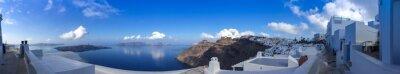 Quadro Panorama à Fira Santorini à, Les Cyclades en Grèce