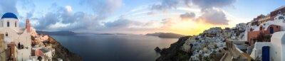 Quadro Panorama à Oia à Santorini, Les Cyclades en Grèce