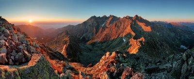 Quadro Panorama di montagna paesaggio autunnale