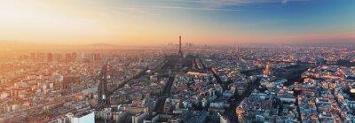 Quadro Panorama di Parigi al tramonto