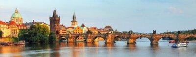 Quadro Panorama di Ponte Carlo a Praga, Repubblica ceca