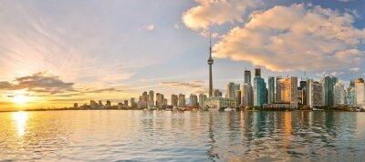 Quadro Panorama di Toronto skyline al tramonto in Ontario, Canada.