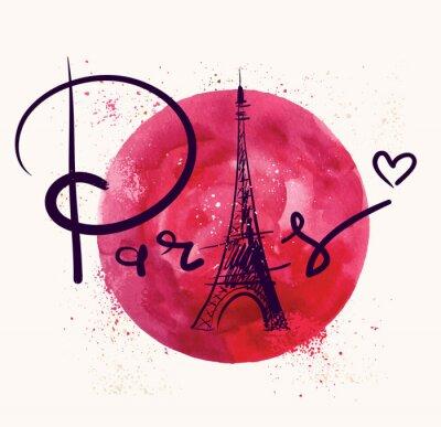 Quadro Parigi e cerchio rosso