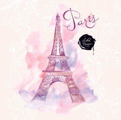 Quadro Parigi. Vector illustrazione acquerello