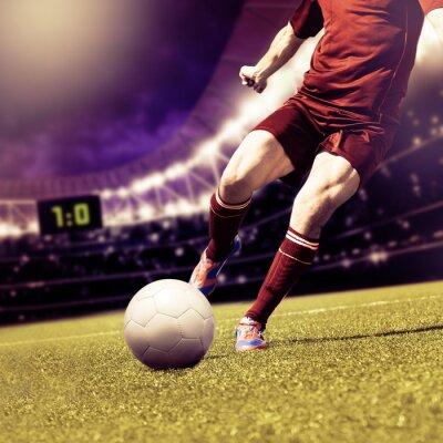 Quadro partita di calcio