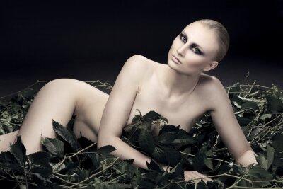 Quadro passionale e sexy donna russa di una bella figura