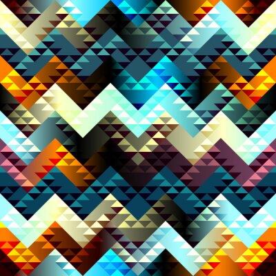 Quadro Pattern in stile aztecs su chevron sfondo.