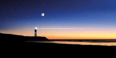 Quadro Paysage phare-mer