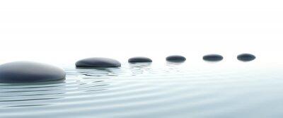 Quadro Percorso di zen di pietre in widescreen