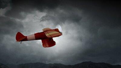 Quadro Pericolo di incidente aereo. Media misti