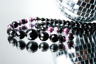 Quadro Perlina con discoteca palla su specchio