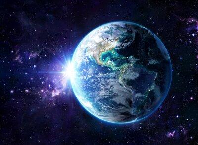 Quadro pianeta nel cosmo - visualizzare Usa - Usa