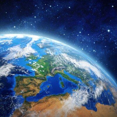 Quadro pianeta terra nello spazio esterno